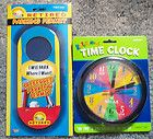 Lot of 4 RETIREMENT GAG GIFTS Parking Permit LOTTO LUCK Time Clock JOKES QUOTES - Clock, GIFTS, Jokes, Lotto, LUCK, PARKING, PERMIT, QUOTES, Retirement, Time