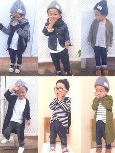 ニット帽コーデまとめました゚.+(*¨*)+.゚ まとめかた雑ですw ニット帽フェスラスト告知です✨ Baby Boy Suit, Cute Baby Boy, Baby Kids, Minimalist Kids, Kids Fashion Boy, Kawaii Fashion, Cool Baby Stuff, Kids Wear, Baby Boy Outfits