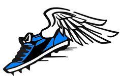 running clipart running shoe with wings clip art 5k pinterest rh pinterest com