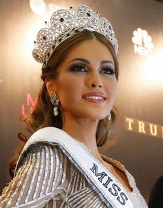 Miss Universe 2013.  Another Latina Miss u. Cant stand it...Latinas are the freaking BOMB. Beautiful women of the world. We Rule!!!!!!!!!!!!!! you go girl!