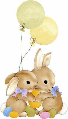 EASTER BUNNIES CLIP ART