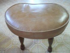 50s or 60s Footstool Kidney Footstool Vinyl Footstool Vintage Footstool Small…
