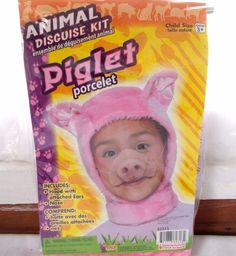 New Forum Animal Disguise Kit Piglet Child Costume Pig #FORUM #HatsHeadwear