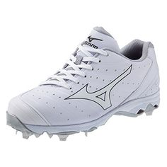 Mizuno Women's 9-Spike Advanced Sweep 2 Fastpitch Softball Metal Cleat - White and White *** Click image to review more details.