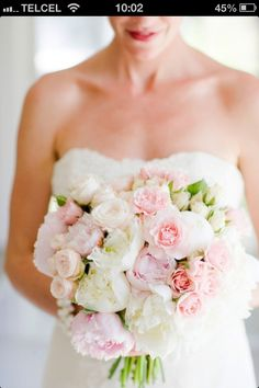 White and pink bouquet.