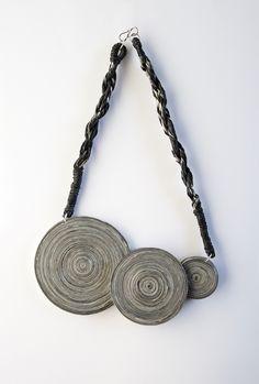 Necklace LerènieS, 2010. Materials: paper