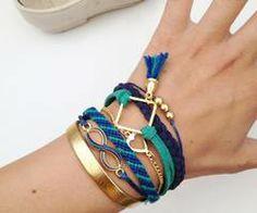 Brățări friendship  | via Facebook  #accessoriesmaria #bracelets #jewelry #accessories  #jewels #pretty #colorful #gold #friendship #infinite #love