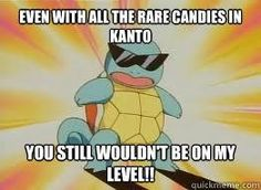 Squirtle is a boss