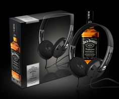 Jack Daniel's Exclusive Collaboration Scullcandy Headphones on Packaging of the World - Creative Package Design Gallery