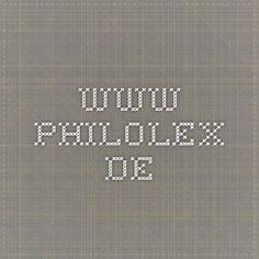 www.philolex.de Coding, Philosophy, Programming