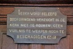 Waarschuwing tegen vandalisme in de kerk