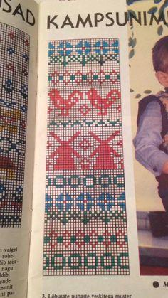 Fair Isle Knitting Patterns, Knitting Charts, Knitting Stitches, Baby Knitting, Crochet Patterns, Cross Stitch Bird, Cross Stitching, Cross Stitch Patterns, Fair Isle Chart