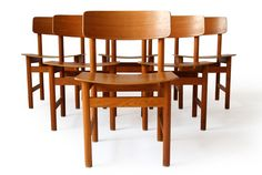 BØrge Mogensen attrib. Teak Bent Plywood Dining Chairs