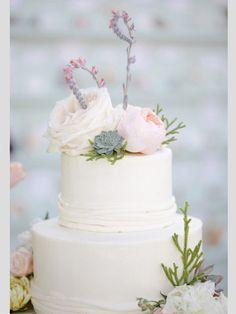 Tartas de boda con flores #boda #tartas