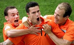 Sneijder, van Persie, and Robben of the Netherlands: few teams can boast such an accomplished attacking trio.
