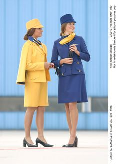 1970-1978: Lufthansa Stewardess Uniforms