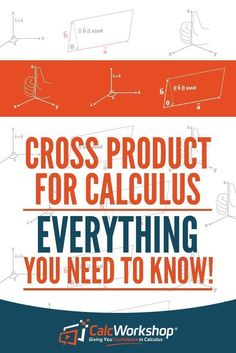 Cross Product - EVERYTHING You Need to KNOW.  Covering the cross product formula, properties, and the determinant rule.  This lecture even compares the differences between the dot product and the cross product.  This video lesson also shows how to calculate the area of a parallelogram and the volume of a parallelepiped object.  Great reference for those in multivariable calculus.  Check it out today!