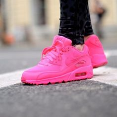 air max 90 outfit,air max 90 women,discount site to buy nike,$49~$69, 2014 New Nike Air Max 90 Womens Shoes All Pink Red