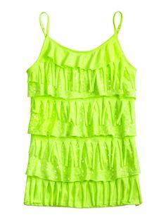 Embellished Neon Fringe Cami | Camis | Clothes | Shop Justice kira-style