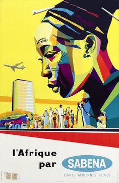 L'Afrique par Sabena - 1960's -