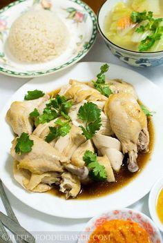 Hainanese Chicken Rice Vietnamese Recipes, Asian Recipes, Vietnamese Food, Asian Foods, Chinese Recipes, Yummy Recipes, Soup Recipes, Chinese Cabbage, Chinese Food