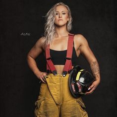 - Firefighter - I'm Victoria Gegalow. I am 23 years old. I live in Cold Lake AB Canada. I am starting a women's fitness… Foto E Video, Photo And Video, Female Firefighter, Life Plan, Women Empowerment, Fit Women, Women's Fitness, Curves, Abs