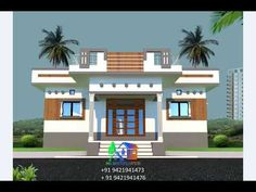 Modern Small House Design, Home Modern, Village House Design, Village Houses, Front Elevation Designs, Gems, Pop, Architecture, Modern