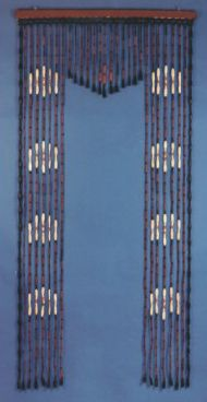 Arch 1  - Wooden Beaded Curtain