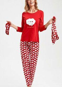Bella Pijama Takımı - KIRMIZI Bloom Coffee, Dark Flowers, Mavis, Little Star, Superstar, Pajama Pants, Model, Vintage, Fashion