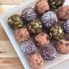 Danijela Unkovich @healthyalways Box of peanut but...Instagram photo   Websta (Webstagram) Bliss Balls, Cacao Powder, A Food, Cocoa, Food Processor Recipes, Peanut Butter, Sunflower Seeds, Paleo, Almonds