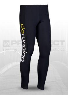 dorunning - Mens LogoTight - Mens Clothing - Black/Flouroscent Yellow/Do White Running