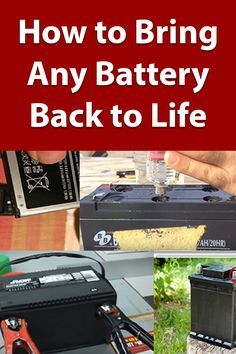 😮I can't believe how simple your reconditioning steps are ! My old ( and once dead ) car batteries ,cell phone battery ,camera battery and tons of other batteries are all reconditioned and working great again!🥂Save money and buy new batteries less Learn how to purchase old batteries, recondition them and sell them for a high profit ..#man #boys#boyslove #boyfriends#boysfashions#batteries #batteriesecours #carbatteries #cellphonebattery #phone #phonebatteries #camera #camerabattery#Home#savings Cordless Drill Batteries, Ryobi Battery, Rv Battery, Lead Acid Battery, Battery Hacks, Lawn Mower Repair, Battery Recycling, Diy Electronics, Restoration