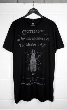 Obituary Long T-Shirt #disturbiaclothing disturbia metal silver alien goth occult grunge alternative punk