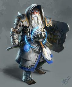 Thronir Lightforce - Deus anão herói.