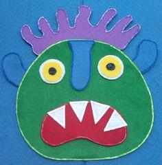 Go Away Big Green Monster Felt Board Flannel Board Story. $6.00, via Etsy.
