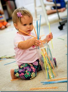 Straws in a Container {17 months}