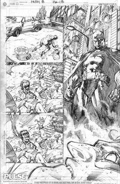 Batman 615 page 8 pencils by Jim Lee