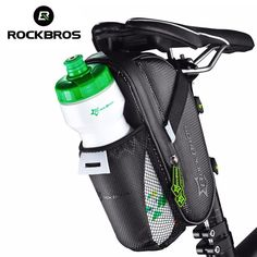 ROCKBROS MTB Bike Rear Bag Rainproof Nylon Bike Saddle Front Bag Outdoor Cycling Mountain Bike Back Seat Tail Pouch Package