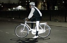 Volvo's new LifePaint only Glows at Night, making for Safer Bike Rides & Walks