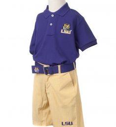 LSU Boys' Purple Polo Shirt | JV Clothiers
