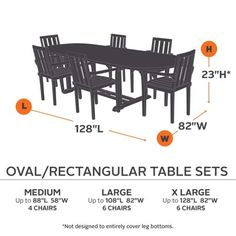 Clic Accessories Ravenna Oval Rectangle Patio Table And Chair Cover Premium Outdoor Furniture