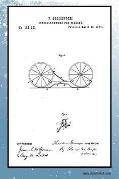 T. Grissinger's Sleigh-Runners for Wagons, U.S. Patent No. 188,621, Patented March 20, 1877.