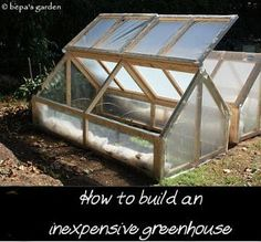DIY Inexpensive Mini Greenhouse- Kerry needs another project
