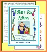 Language Arts Activities with Fatherhood Theme $3.00