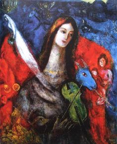 Marc Chagall, Blue concert, 1945 - oil on canvas, 49,5 x 40,5 cm