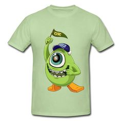 Sale!Mike Wazowski Of The Monsters University Short Sleeve T-shirts online at HICustom.Free Shipping,Wholesale Price,No Minimums.