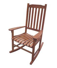 Look at this #zulilyfind! Natural Stain Traditional Rocking Chair #zulilyfinds