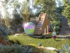 Youth homelessness prevention organization Kids Under Cover has released the first images of the five cubbies competing for the title of Australia's Best Cubby. Cubby Houses, Garden Show, Design Competitions, Cubbies, Outdoor Furniture, Outdoor Decor, Architecture Design, Construction, Australia