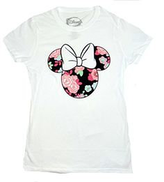Disney Minnie Mouse Floral Juniors Tshirt Extra LargeWhite ** Continue to the product at the image link.