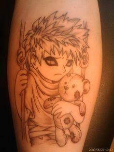 anime manga game tattoo pin up girl anime manga tattoo on leg anime ...